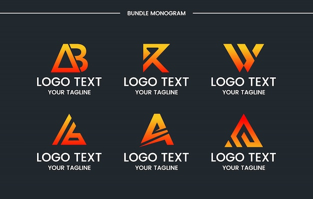 모노그램 세트 로고 디자인