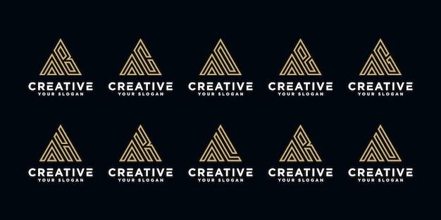 Monogram set logo a and etc