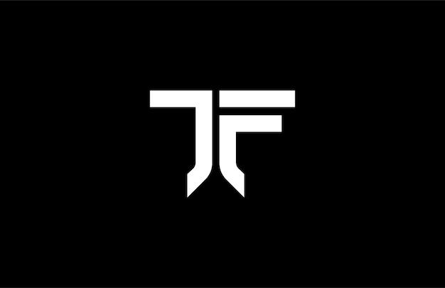 Monogram typography jf