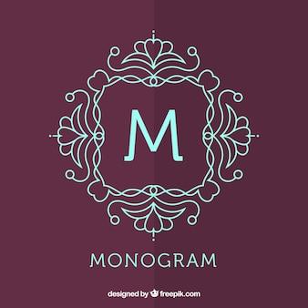 Monogramma con decorazione floreale