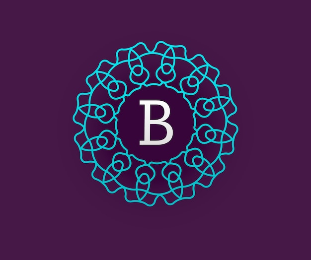 Monogram with letter b