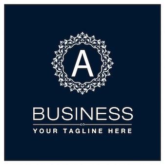 Шаблон логотипа бизнес monogram