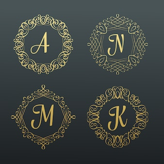 Monograms and calligraphic borders.