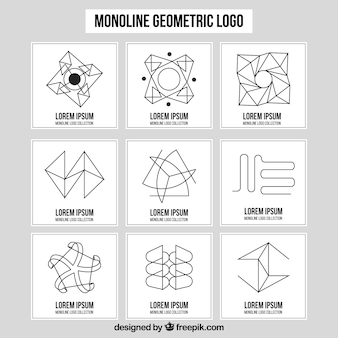 Monoline logo collection of nine