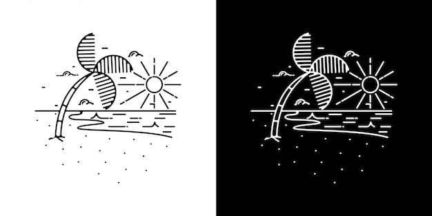 Монолин лето иллюстрация