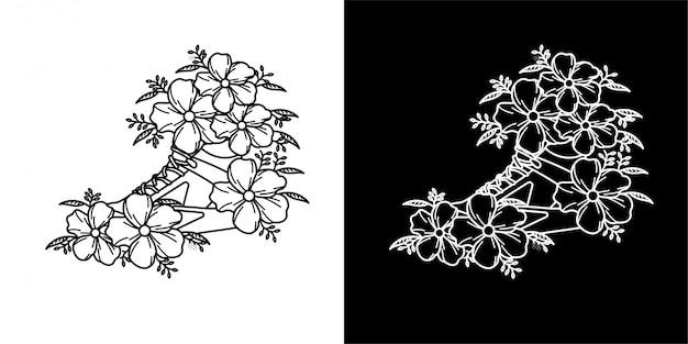 モノラインのタトゥーのデザイン