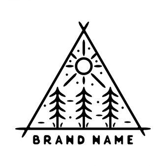 Monoline viintage outdoor badge design