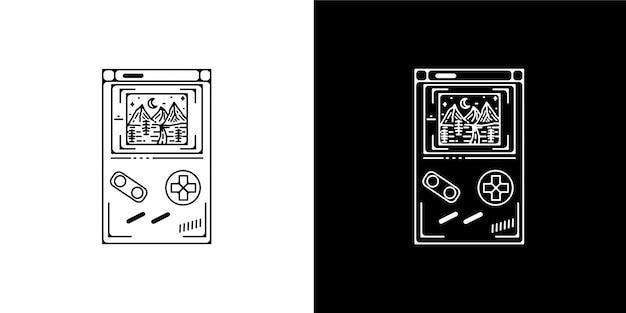 Monoline vintage game design