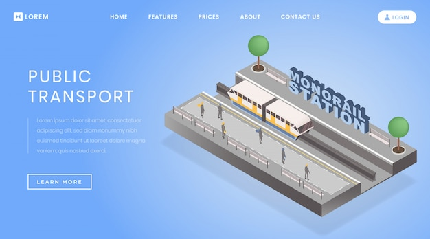 Monorail station landing page