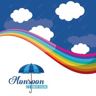 モンスーンのシーズン終了アイコン