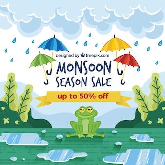 Sfondo di vendita di monsone