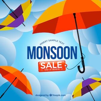 Monsoon sale background