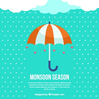 Monsoon season background