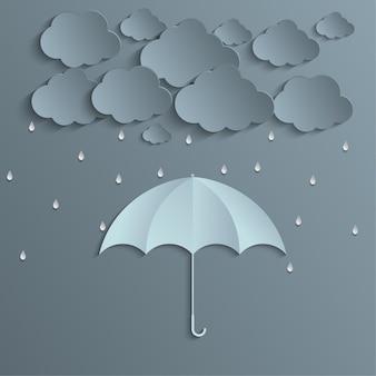 Monsoon season composition origami style