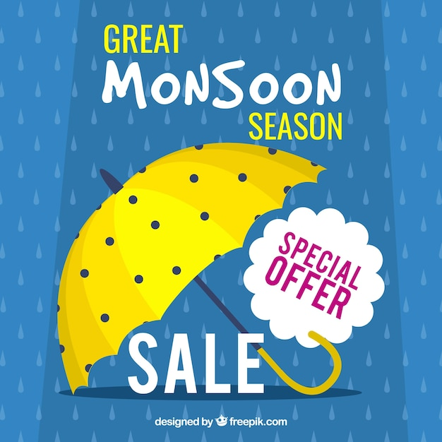 Free Monsoon Season Sale Background With Umbrella Vector Free Downloads Svg Free Cricut And Silhouette Cut Files