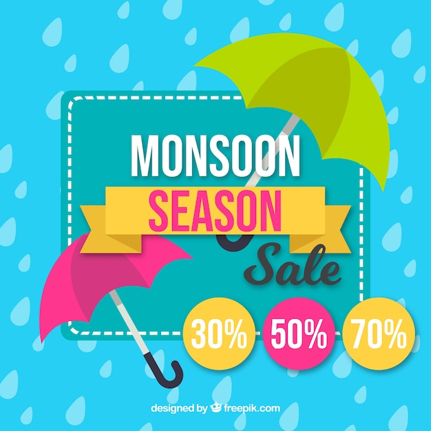 Free Monsoon Season Sale Background With Umbrellas Vector Free Downloads Svg Free Cricut And Silhouette Cut Files