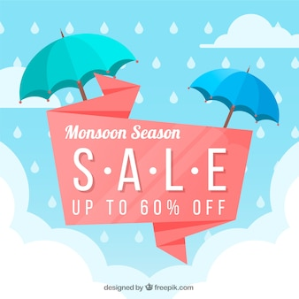우산 계절 계절 판매 배경