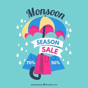 Fondo di vendita di stagione dei monsoni