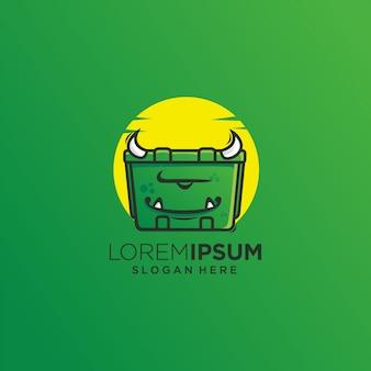 Монстр ящик зеленый дьявол логотип