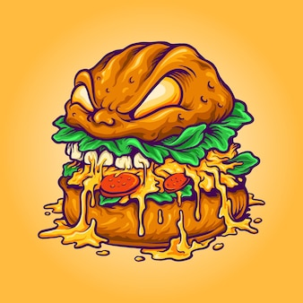 Monster burger fast food beverages