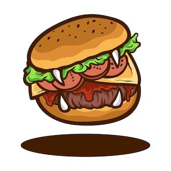 モンスターハンバーガーフードイラスト