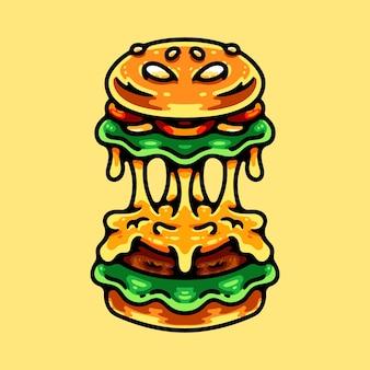 Monster burger illustration character