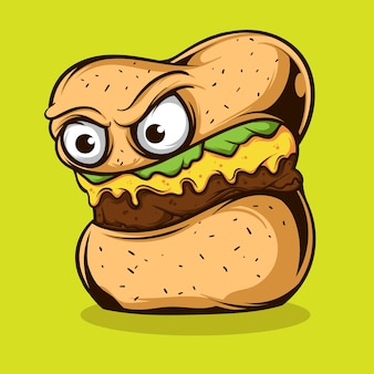 Monster burger illustration
