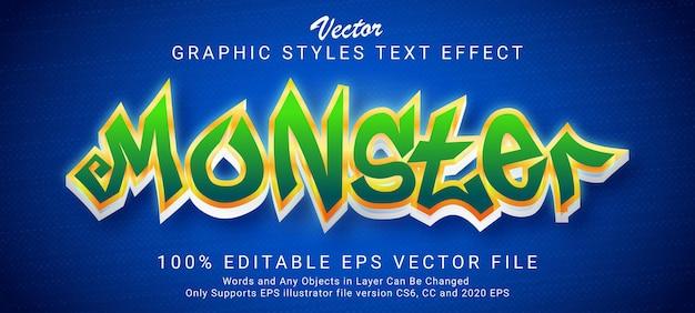 Monster cartoon text style effect