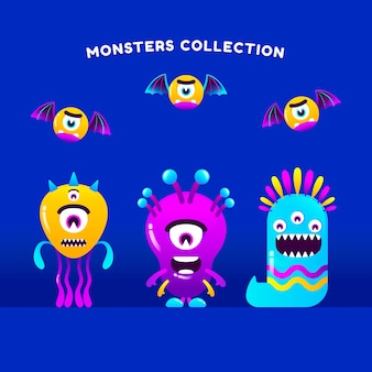 Monster collection in gradient style