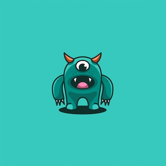Monster cute cartoon mascot illustration