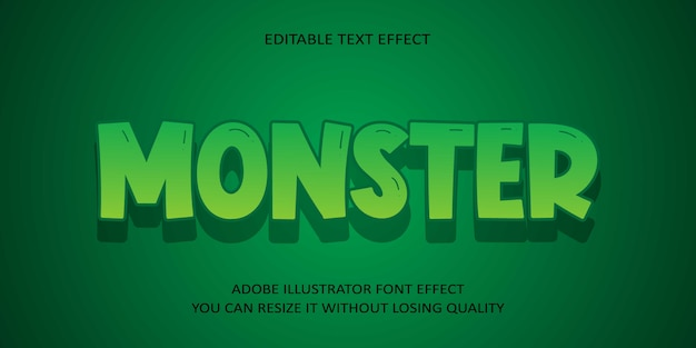 Monster editable text effect