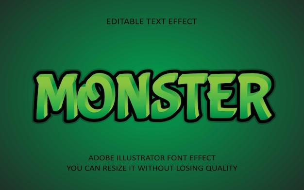 Monster editable text effect