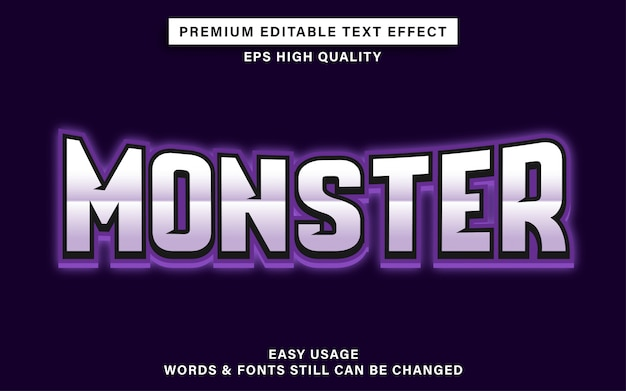 Monster esports text effect