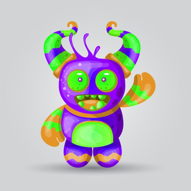 Monster illustration vector for print design