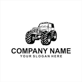 Монстр джип логотип вектор