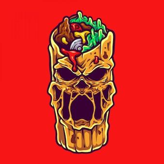 Monster kebab illustration