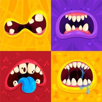 Monster mouth set