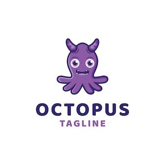 Monster octopus logo template