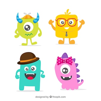 Monster pack of four