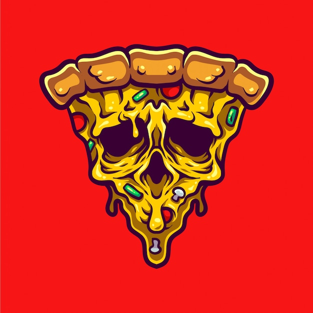 Monster pizza illustration