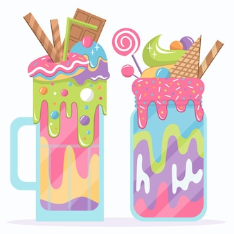 Monster shake pack drawing