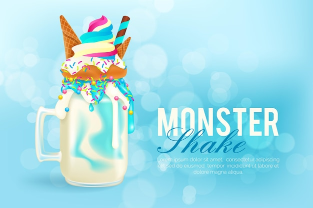 Monster shakes background theme