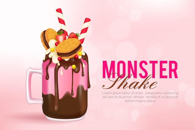 Monster shakes background