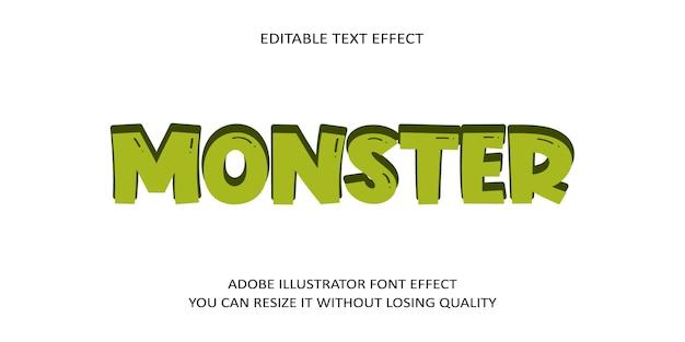 Monster text font effect