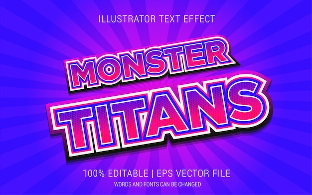 Monster titans text effects style