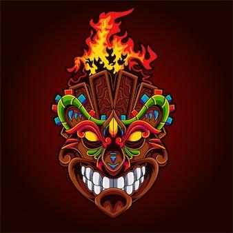 Monster totem illustration