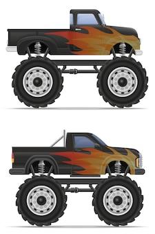 Monster truck car pickup.