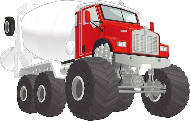 Monster truck - бетономешалка
