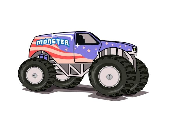 Monster truck illustration illustration hand drawing