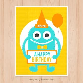 Monster wish you happy birthday